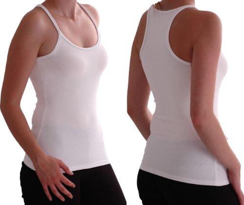 Eyecatch - Nikki Racer Back Damen Vest Top White