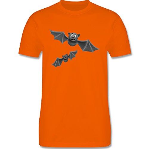 Halloween - süße Fledermäuse - XL - Orange - L190 - Herren T-Shirt (Suche Auf Kostümen Der Nach Günstigen Halloween)