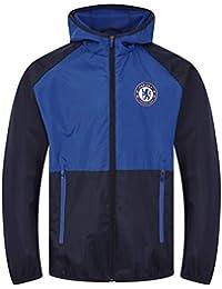82d88805e Chelsea FC Official Football Gift Boys Shower Jacket Windbreaker Royal Blue