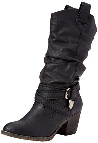 Rocket Dog Damen Stiefel, Sidestep , Gr. 39 (Herstellergröße: 6), Schwarz (Black) (Stiefel Schuhe Rocket Dog)