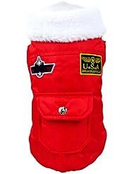 Manteau pour chien vêtement doudoune hiver noir USA