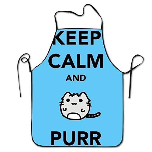 QIAOJI Delantal Cat and Quote Aprons For Women/Men Bib Save All BBQ Short Kitchen Towel Funny Chef Apron