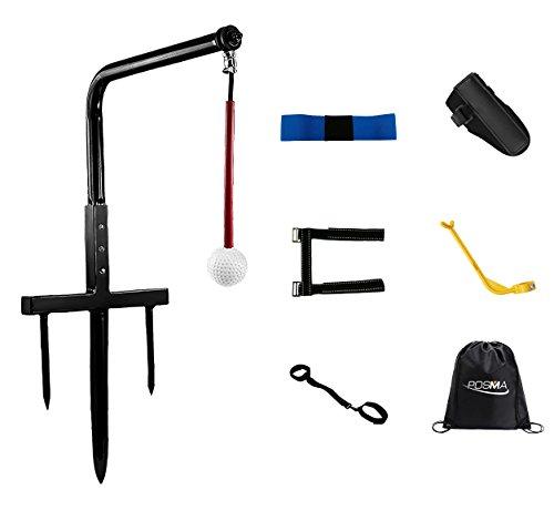 Posma ST080A Metall Golf Swing-Trainer im Club Champ Swing-Groover und 5 Haltung Korrektoren Geschenk-Set mit Posma Schw