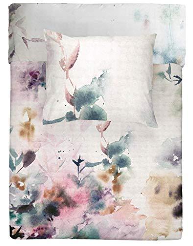 Walra Bettwäsche Renforce Baumwolle Reißverschluss 155x220 80x80 (Flower Dust)
