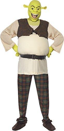Shrek UND Fiona Paar Kombo Halloween Fasching Karneval Kostüm - Grün, Damen 40-42 & Herren M (Erwachsenen Disney-figur-kostüme)