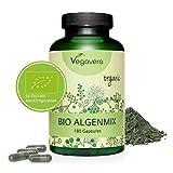 VEGAVERO® BIO ALGEN KAPSELN | 100% Bio Spirulina, Chlorella & Kelp | Für Nervensystem und Energiestoffwechsel* | Reich an Jod | 180 Algenmix Kapseln | Vegan und ohne Zusatzstoffe