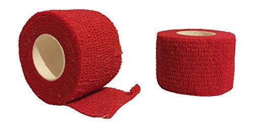 Grip Tape für Sportarten wie Hockey und Baseball (2Pack) von tapeowl, rot