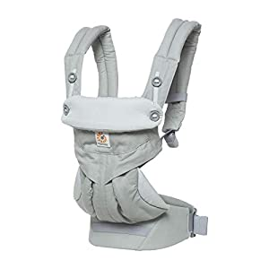 Ergobaby Babycarrier 360 4 Postition Carrier Sunrise Pearl Grey   7