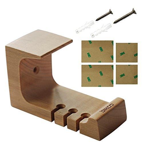 Kopfhörer Ständer, Holz Aufsteller mit Schraube stabiler dikoo Kopfhörer Halterung Aufhänger Halterung Untertisch- und Klebstoff zum Aufkleben