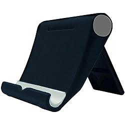 Daorier Universel Pliable Support Monture Fixation Support Plat Réglable Multi-Angles pour Téléphone Portable Tablet pour iPad Mini iPhone Samsung Galaxy Note Huawei (Noir)