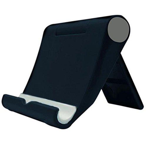 Da.Wa Soporte Plegable Soporte Base Ajustable Plegable Soporte Universal para Móvil Teléfono y Tablet(Negro)