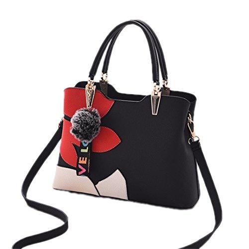 Frauen Taschen Großhandel Handtaschen Einfache Wild Bequeme Beiläufige Großzügige Natürliche Persönlichkeit Klassische Jf1820 black 32x22x16cm