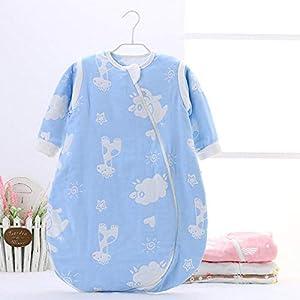 Dtcat Saco de Dormir con pies,Pijama de una Pieza para bebé,Saco de Dormir de Gasa para bebé @ Color_S,Unisex,Saco de…