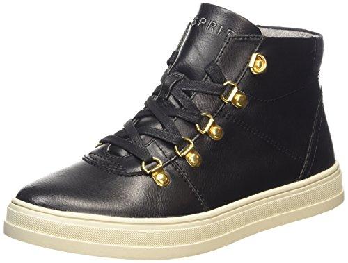 ESPRIT Sidney Bootie, Sneaker alta donna, Nero (Nero (001 Black)), 39