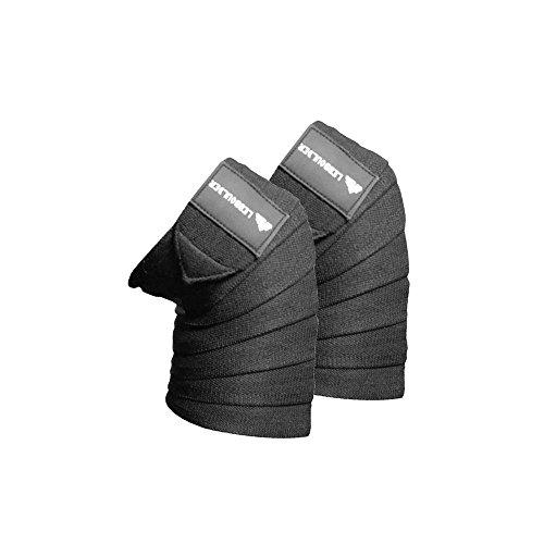 Lebboulder sport fasce per ginocchia per cross training Wods, palestra, allenamento, fitness, sollevamento pesi e powerlifting–Cinghie per squat–Men & women- 182,9cm -compression elastico per sostegno e stabilità nero