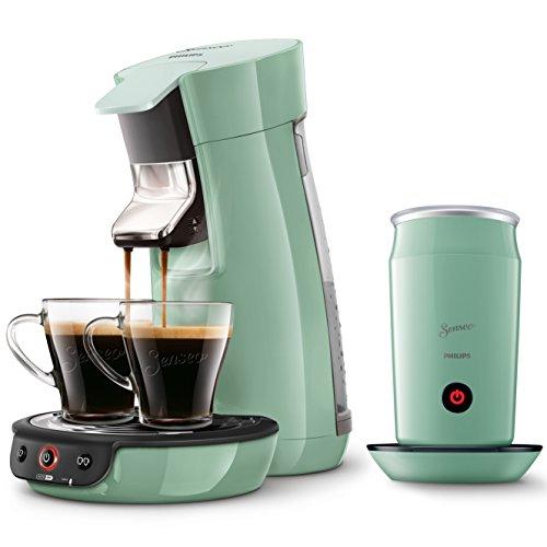 Philips Senseo HD7829/10 Viva Café Kaffeepadmaschine + Philips Senseo CA6500/10 Milchaufschäumer