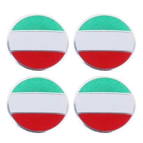 4 x ITALIEN Italy Italia Felgensticker Aufkleber Nabendeckel Nabenkappen Emblem (Ford Nabendeckel Embleme)