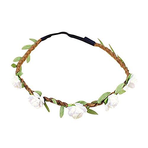 Haarband Stirnband - TOOGOO (R) Dame Blumen Haarband Stirnband Festival Party Hochzeit weiss