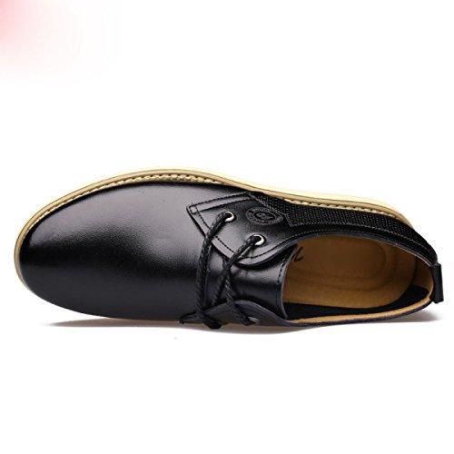 Moda Scarpe Da Uomo Inghilterra Testa Tonda Scarpe Casual Scarpe Singole Uomini Scarpe In Pizzo Black