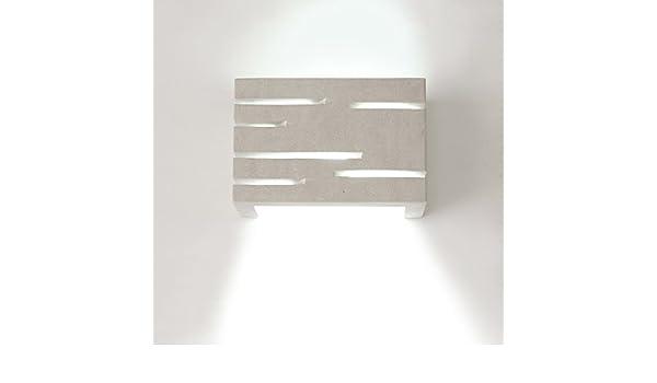 Applique tagli in pietra leccese ip20 max 40w: amazon.it: illuminazione