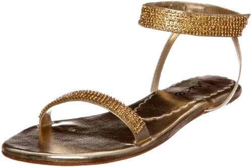 Unze L16933 Gold Formal L16933 8 UK, Sandales femmes Or