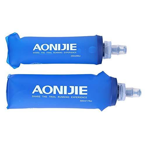 TOPINCN TPU Faltbar Wasserflasche Weiche Wasserflasche Handheld Sport Trinkflasche Weicher Kolben Für Laufen Camping Wandern Fahrrad Faltbar(500ML)