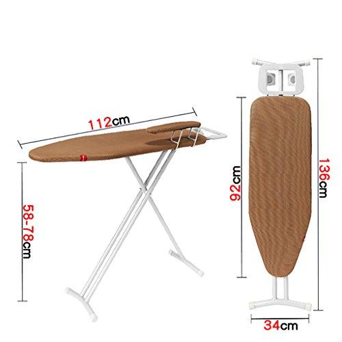 Bügelbrett-Gestell faltbar, Bügelbrett-Leichtgewichtler-Eisen-Gestell-justierbares faltbares Stand-faltendes, Tischplatten-Bügelbrett ( Farbe : B )