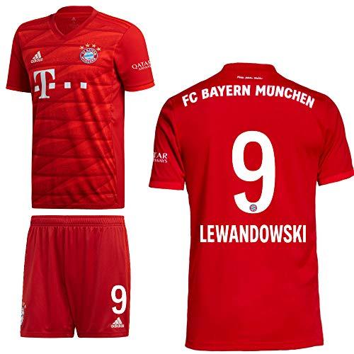 adidas FCB FC Bayern München Home Kit Heimset 2019 2020 Kinder Lewandowski 9 Gr 152