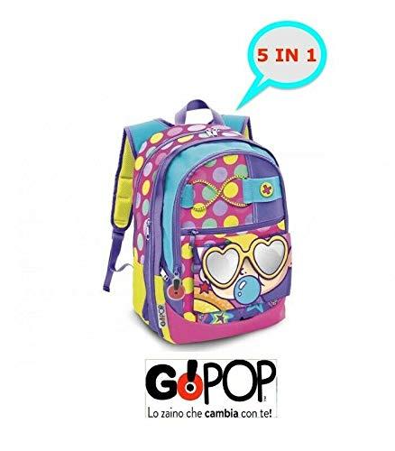 Giochi preziosi gopop19 zaino estensibile pop femmina zaini scuola, multicolore, 8056379074106
