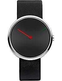 Jacob Jensen 250 - Reloj de pulsera unisex, piel, color negro