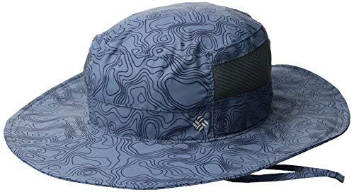 Columbia Hüte Zubehör (Columbia Bora Print Booney Sonnenhut Blau (Mountain Topo) O/S)