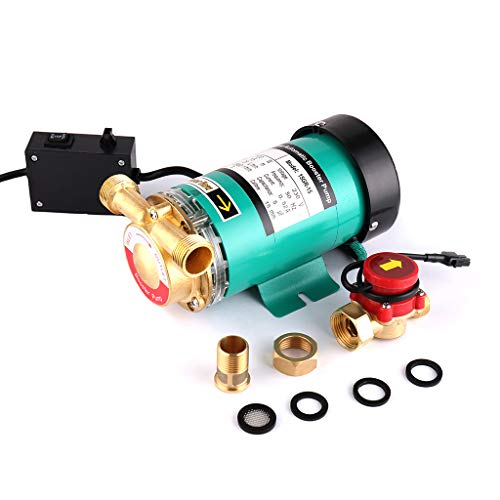 SHYLIYU Bombas de presión de agua automáticas de bomba de refuerzo Out'Bomba de agua caliente de salida con interruptor de flujo de agua de latón para el hogar/ducha Lavadora 120W 25l / min
