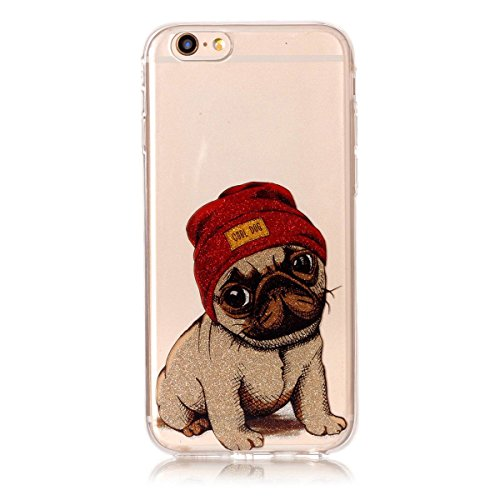 iPhone 6S Hülle ,Fodlon® Ultra Slim Fit TPU Gel Skin BlinkenPulver Schutzhülle / Case / Cover -Panda Welpe