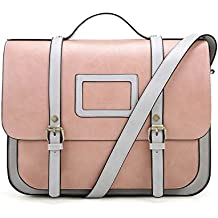 ECOSUSI Borsa a Tracolla Borse a Mano in Pu Pelle Borsa Vintage Donna per  Laptop 4a55444145a