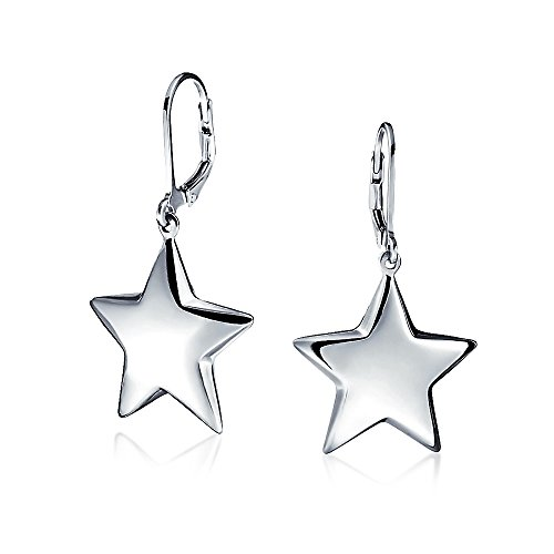 Patriotische Himmlische Abendmahl Star Baumeln Ohrringe Leverback Für Damen Für Jugendlich Graduation Sterling Silber (Patriotische Ohrringe)