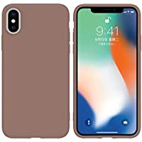 LARPOTE Funda iPhone X, Case para móvil en TPU Silicona Ultradelgado Anti-Choque para Apple iPhone X - marrón