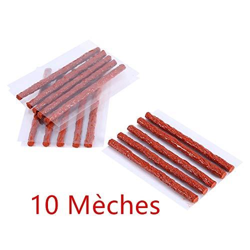 Lot de 120 m/èches 4mm 10cm Noir pour kit de r/éparation de Pneu AERZETIX
