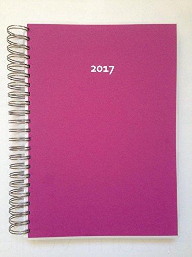 Preisvergleich Produktbild 2017 Ring-TageBuch Kalender Himbeere - 1 Tag = 1 A4-Seite