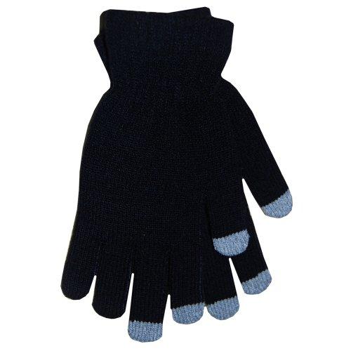 BOSS Tech Produkte Knit Touchscreen Handschuhe mit leitfähigen Fingerspitzen schwarz -