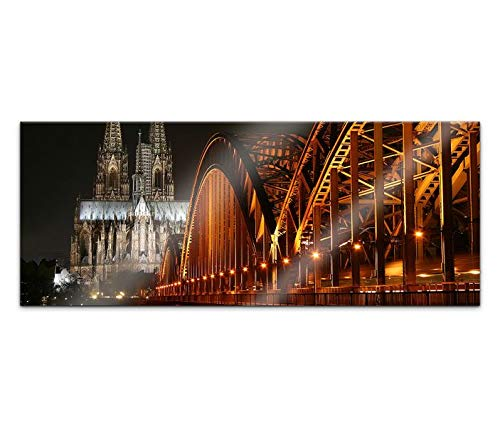 Acrylglasbild 100x40cm Skyline Köln Brücke Kölner Dom Kat15 Stadt Acrylbild Acryl Bild UV Druck Acrylglas Acrylglasbilder 14G354