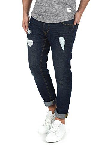 !Solid MOY Herren Jeans Hose Denim Aus Stretch-Material Mit Destroyed-Look Slim Fit, Größe:W31/32, Farbe:Dark Blue (9620)