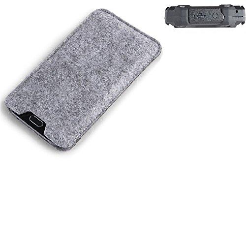 K-S-Trade Filz Schutz Hülle für simvalley Mobile SPT-210 Schutzhülle Filztasche Filz Tasche Case Sleeve Handyhülle Filzhülle grau