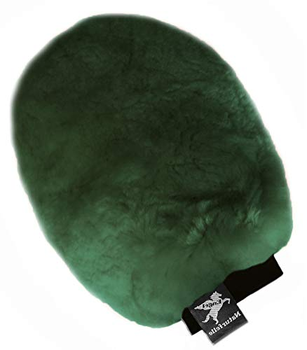Engel Reitsport Putzhandschuh zur Fellpflege Lammfell grün (Puha 1)