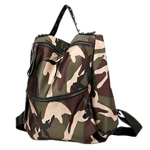 Damen Rucksack Schultertasche Camouflage Reißverschluss Small Pack, Damen, Camouflage (Rucksack Reebok Rosa)