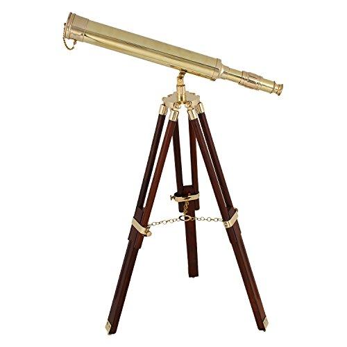 Artshai 16inch Golden latón telescopio trípode