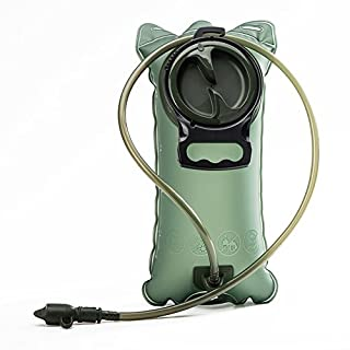 Hydration Bladder Water Reservoir 2 Liter 2L 70 oz Suitable Adventures Bicycling Hiking Camping Climbing Backpack Non Toxic Easy Clean Large Opening Quick Release Insulated Tube Shutoff Valve