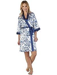 354122e67d Slenderella GL2774 Women s Floral Satin Floral Robe Loungewear Bath Dressing  Gown