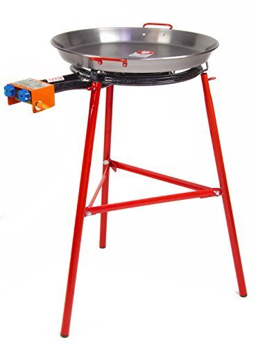 Paella Pan + Paella Burner and Stand Set - Complete Paella Kit by GARCIMA