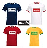 Oasis Band Logo Supersonic Gallagher Noel Liam Brit Pop Beady Ringer T-Shirt