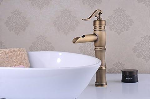 NIHE European antique bathroom sink basin faucet retro, Bamboo style